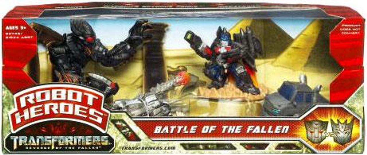 Transformers Revenge of the Fallen Robot Heroes Battle Of The Fallen Figure Set