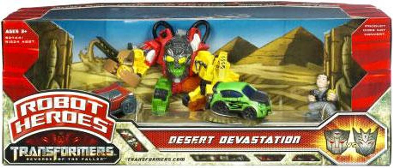 Transformers Revenge of the Fallen Robot Heroes Desert Devastation Figure Set
