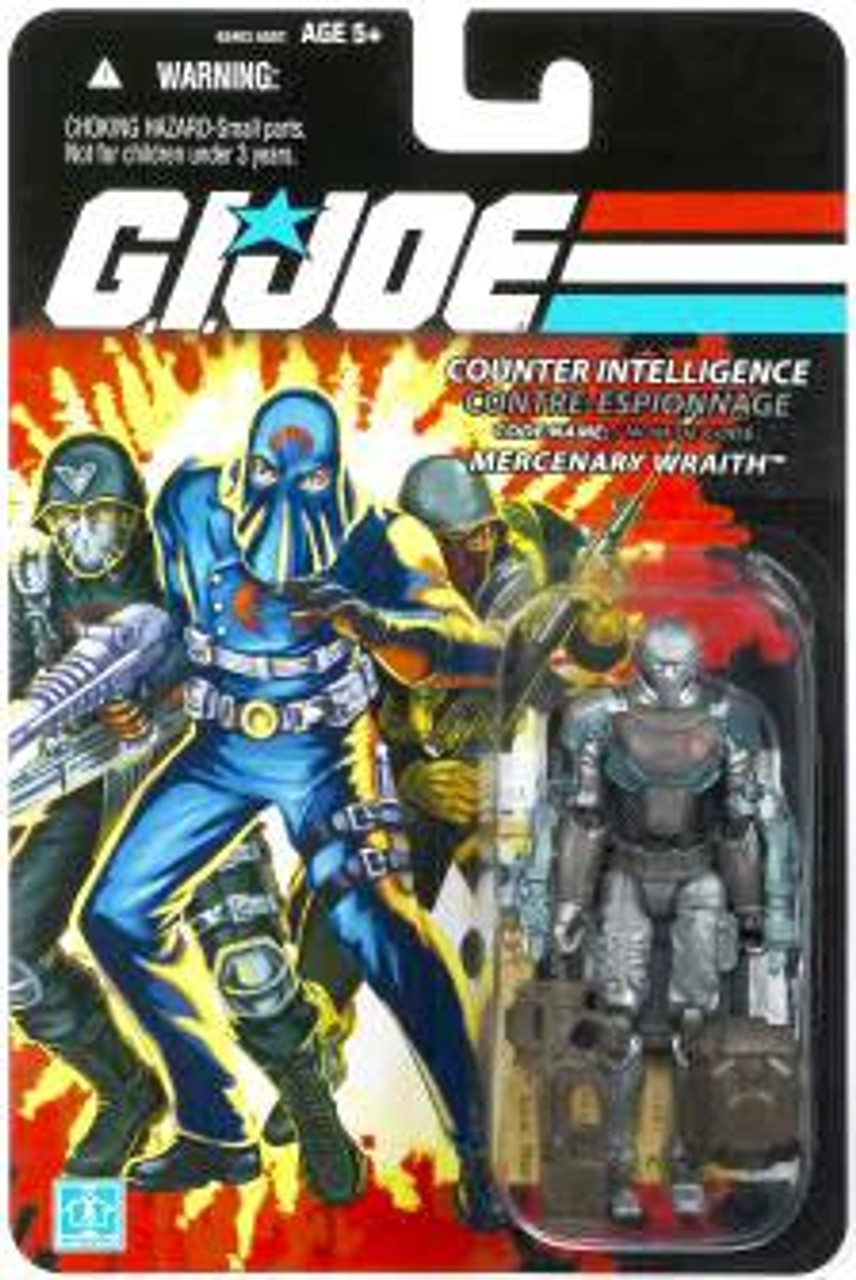 GI Joe Bilingual Package Mercenary Wraith Action Figure