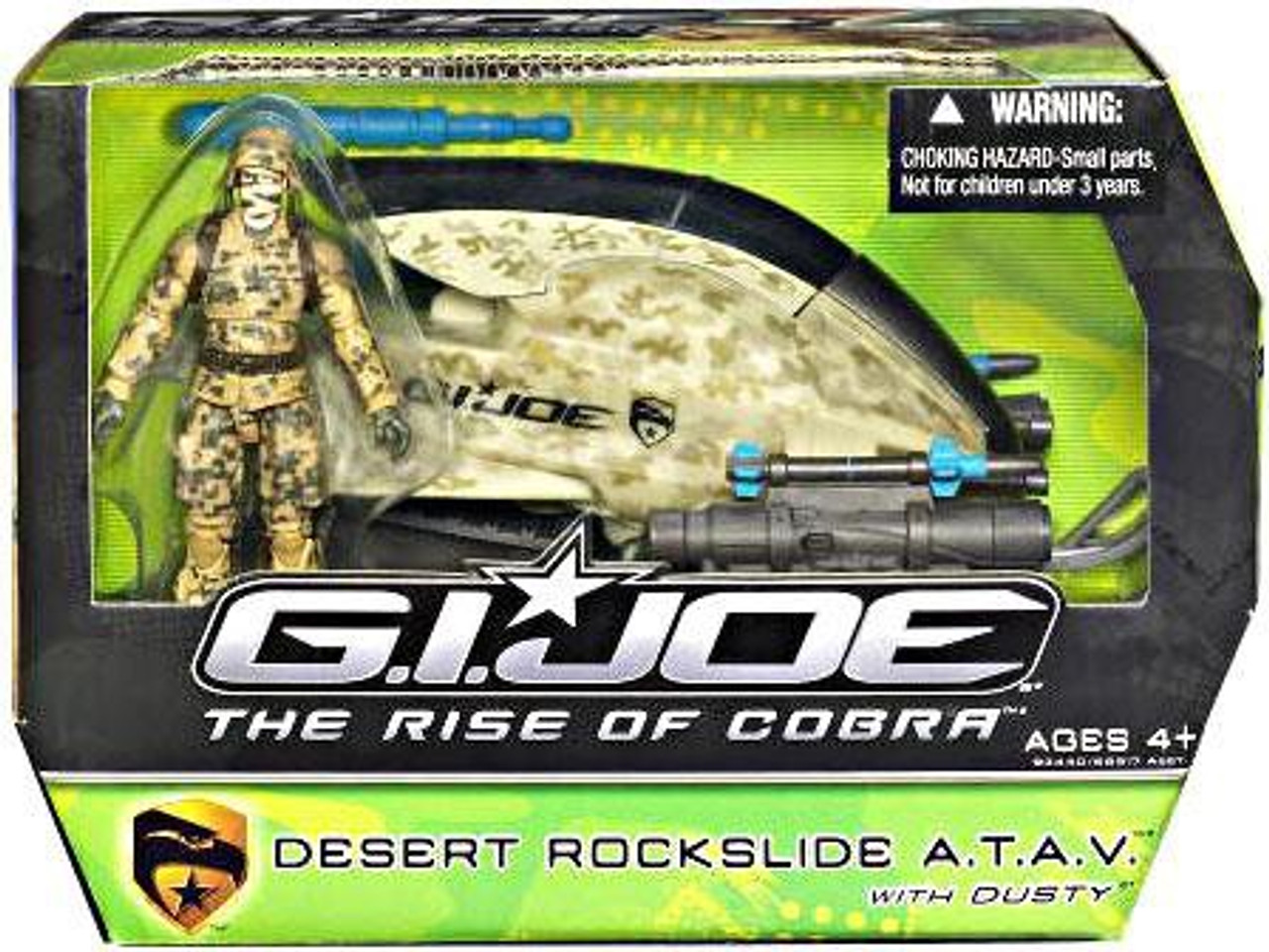 GI Joe The Rise of Cobra Desert Rockslide A.T.A.V. Action Figure Vehicle