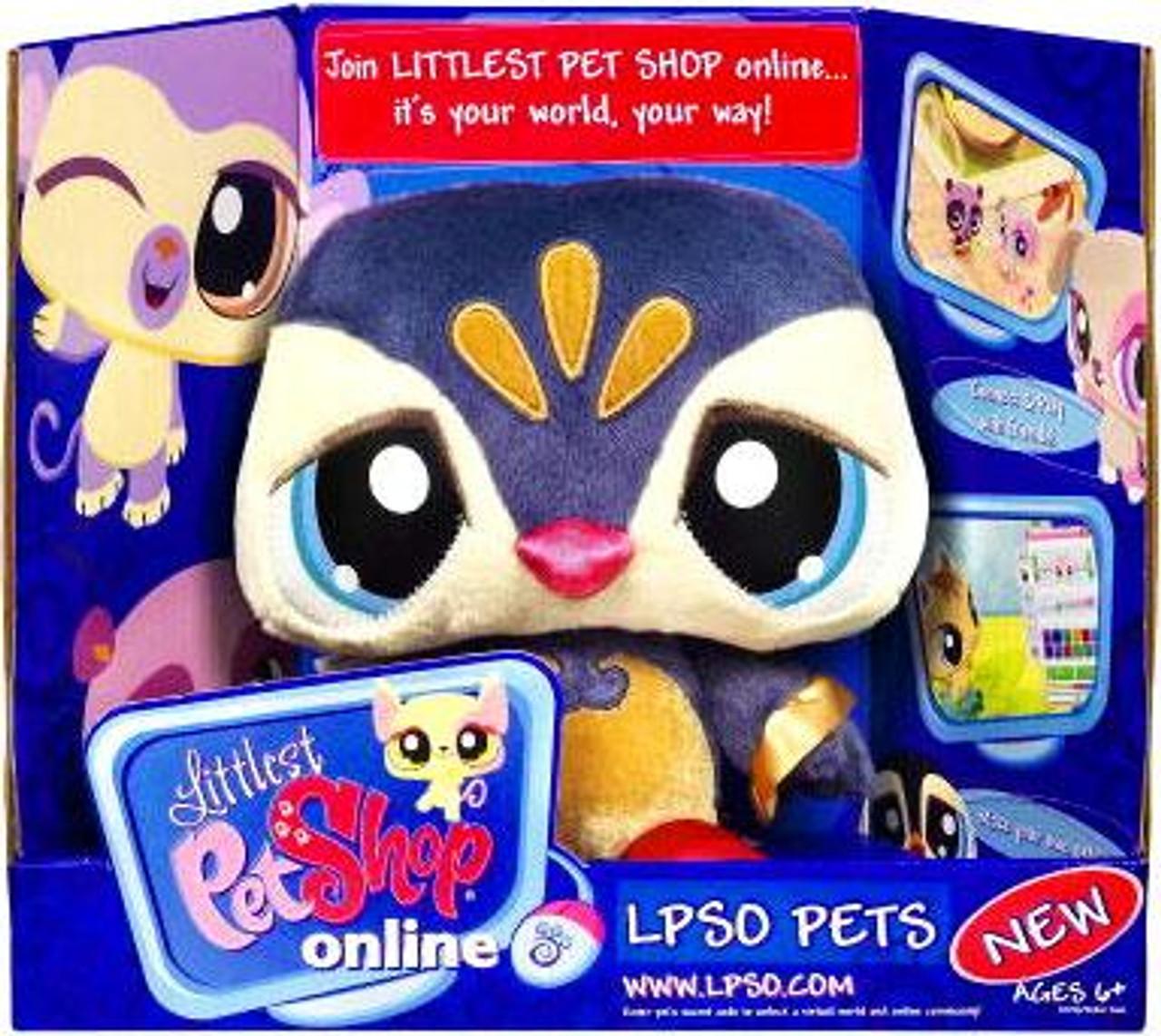 Littlest Pet Shop Online LPSO Pets Penguin Plush [Blue Face]