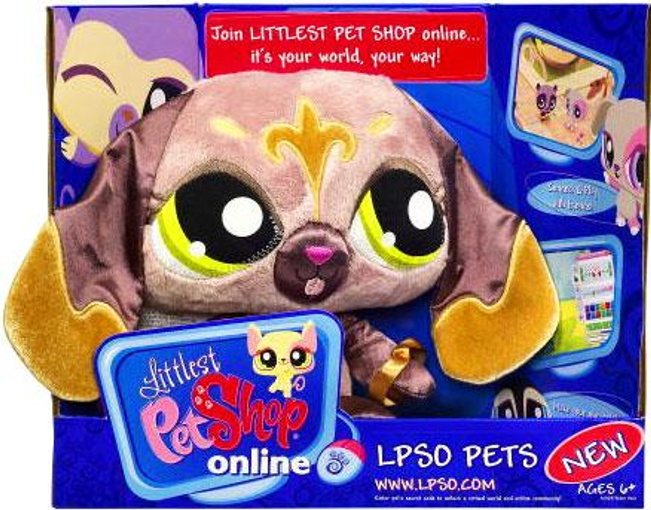 Littlest Pet Shop Online LPSO Pets Dog Plush [Brown with Floppy Ears]