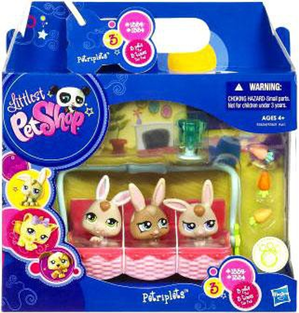 Littlest Pet Shop Petriplets Bunnies Figure 3-Pack #1662, 1663, 1664