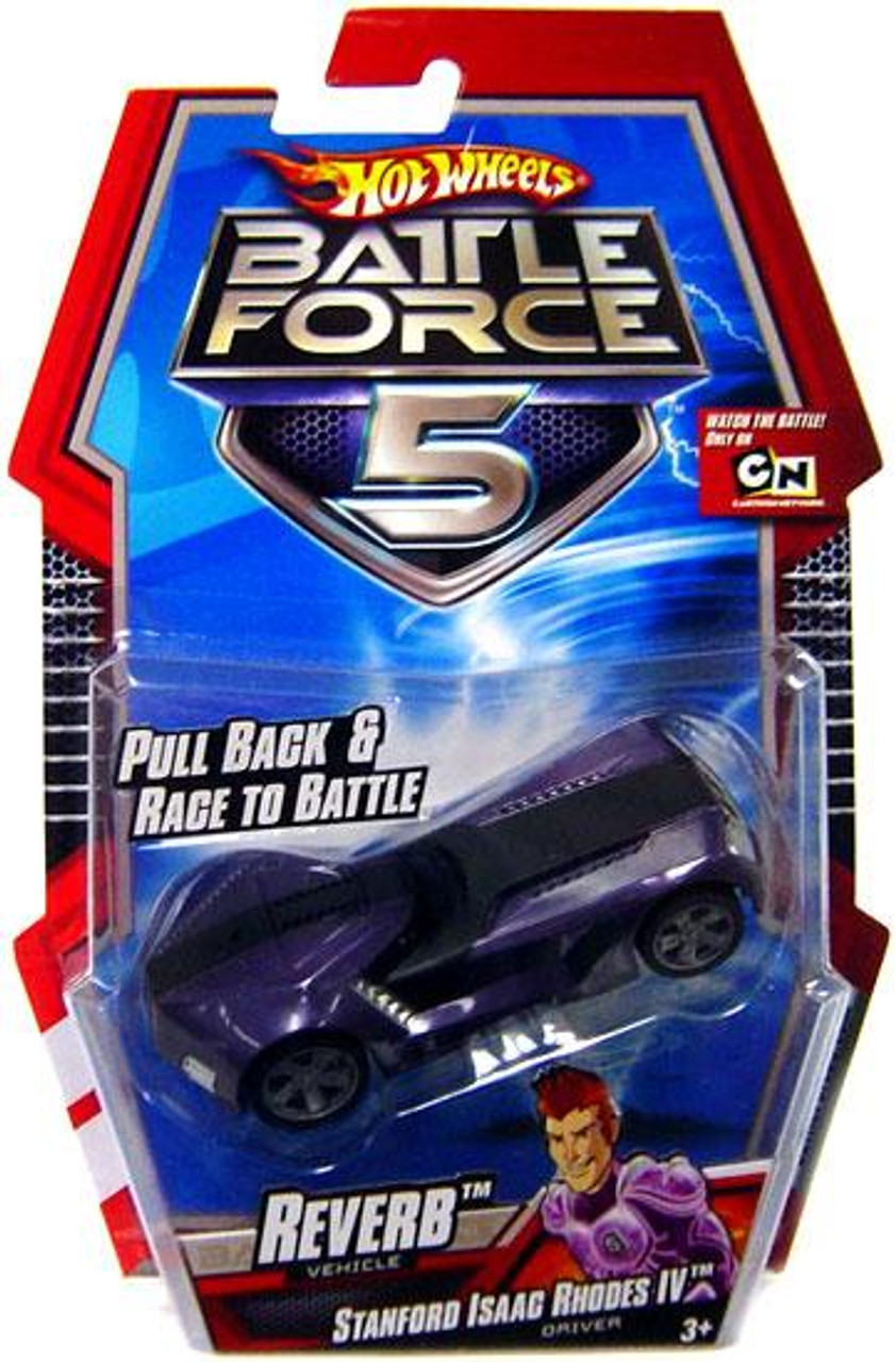 Hot Wheels Battle Force 5 Pull Back Reverb 1/6 Diecast Vehicle