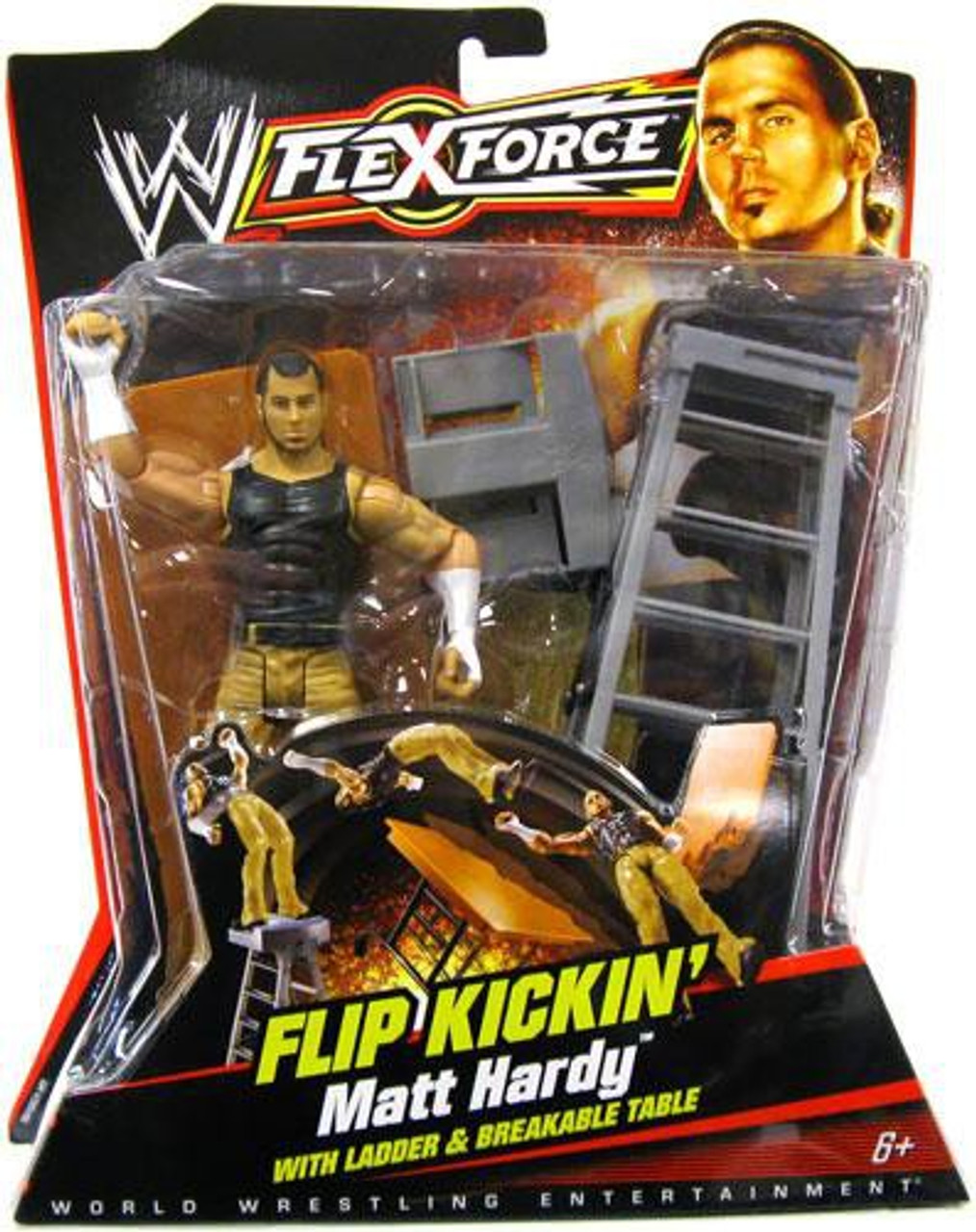 WWE Wrestling FlexForce Series 1 Flip Kickin' Matt Hardy Action Figure [With Ladder]