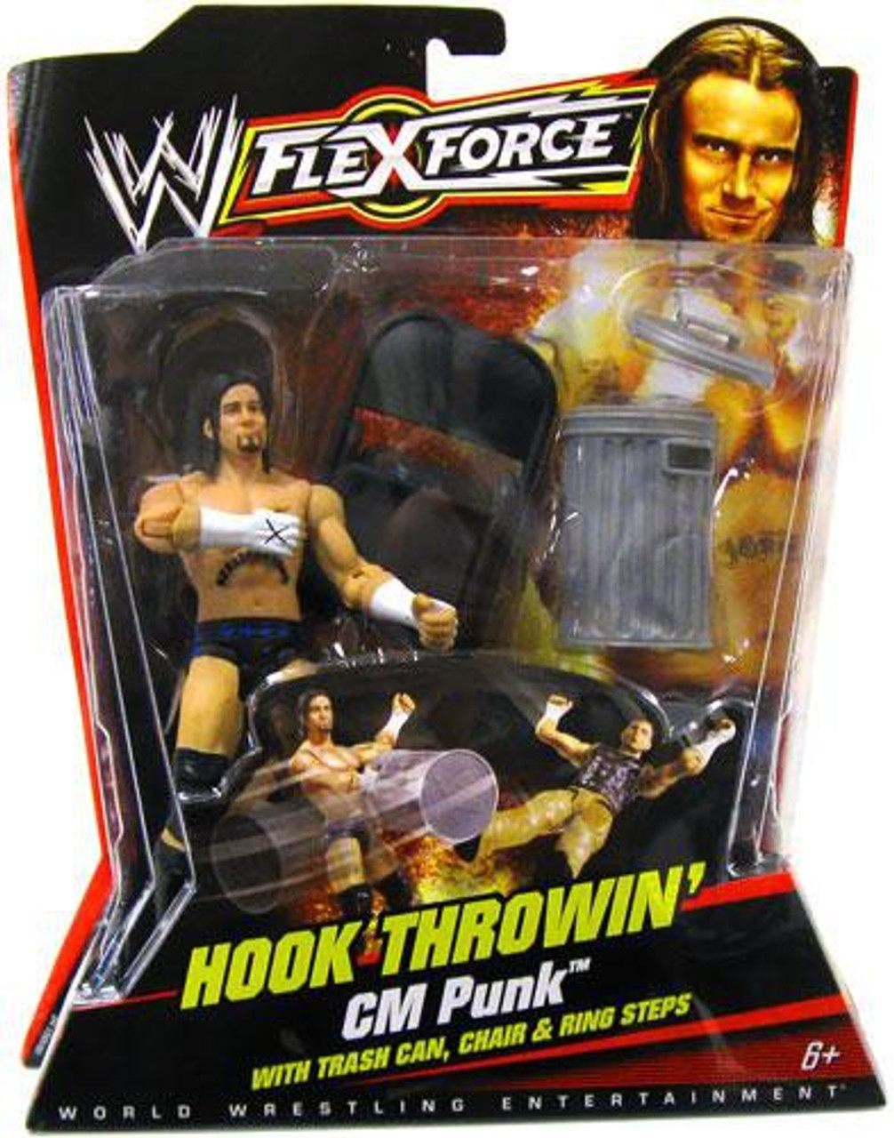 WWE Wrestling FlexForce Series 1 Hook Throwin' CM Punk Action Figure
