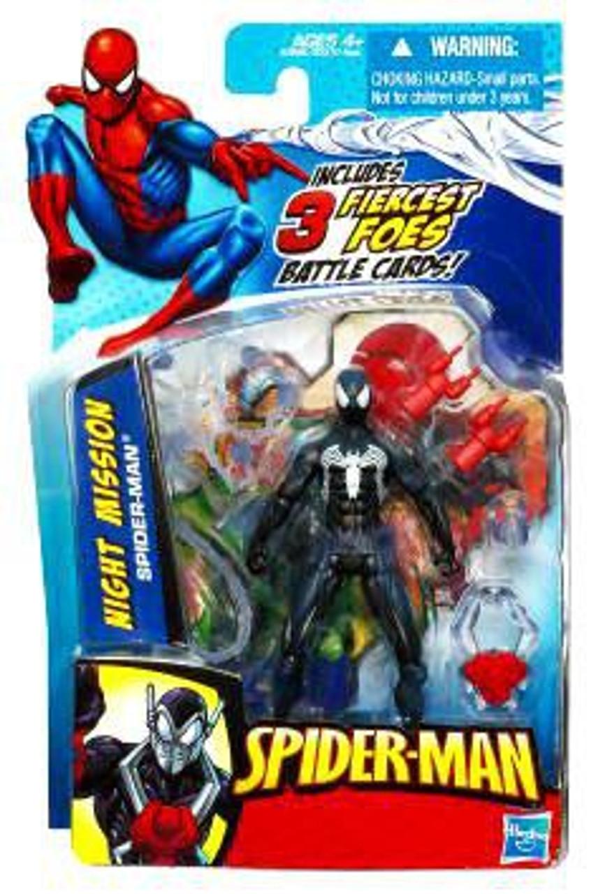 Spider-Man 2010 Night Mission Black Spider-Man Action Figure
