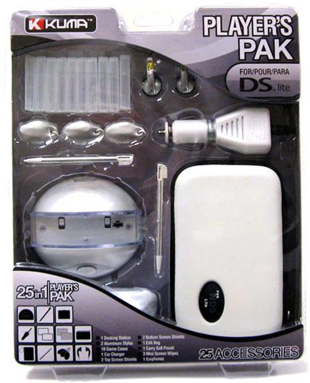 Nintendo DS 25 in 1 Players Pak [White]