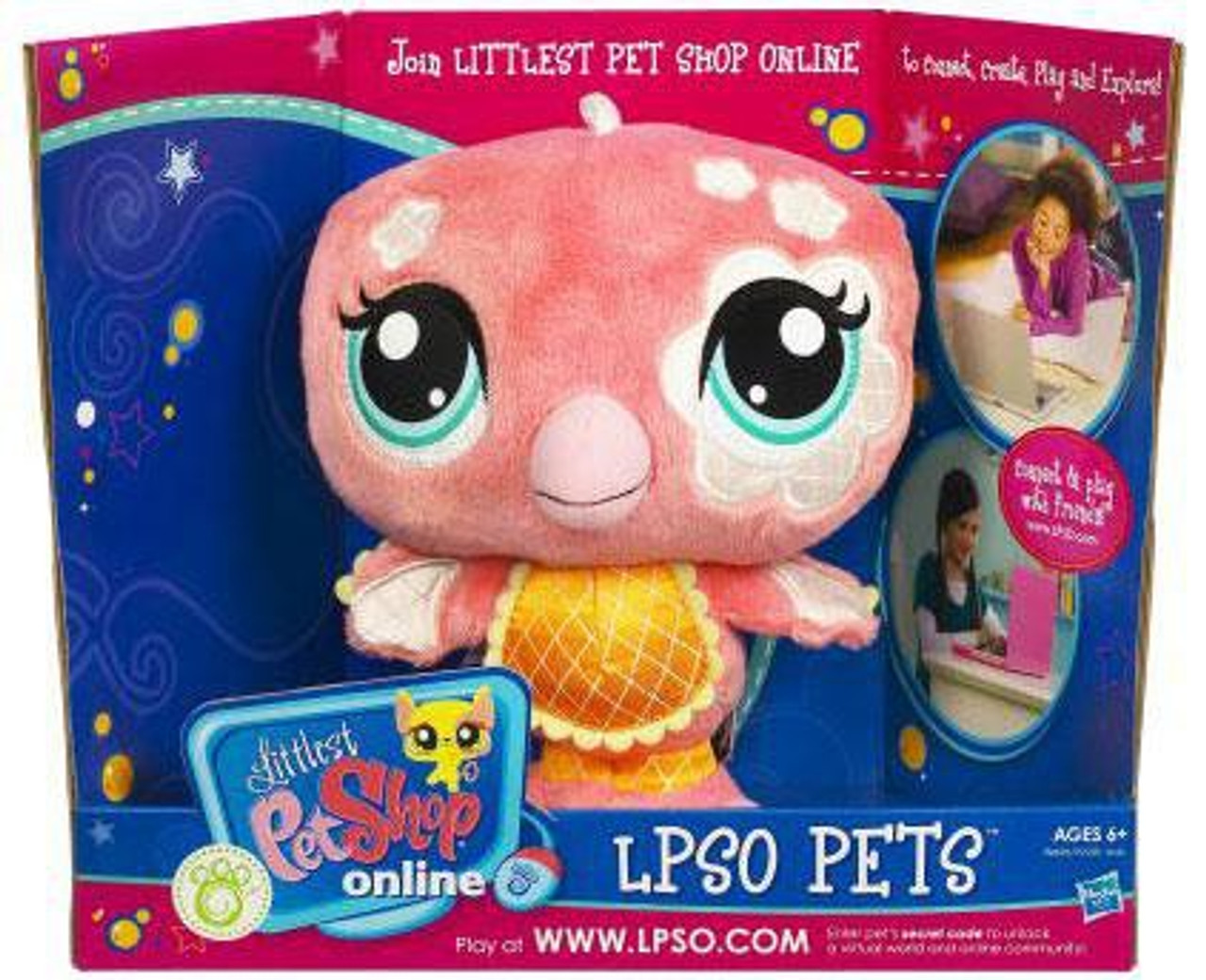 Littlest Pet Shop Online LPSO Pets Flamingo Plush