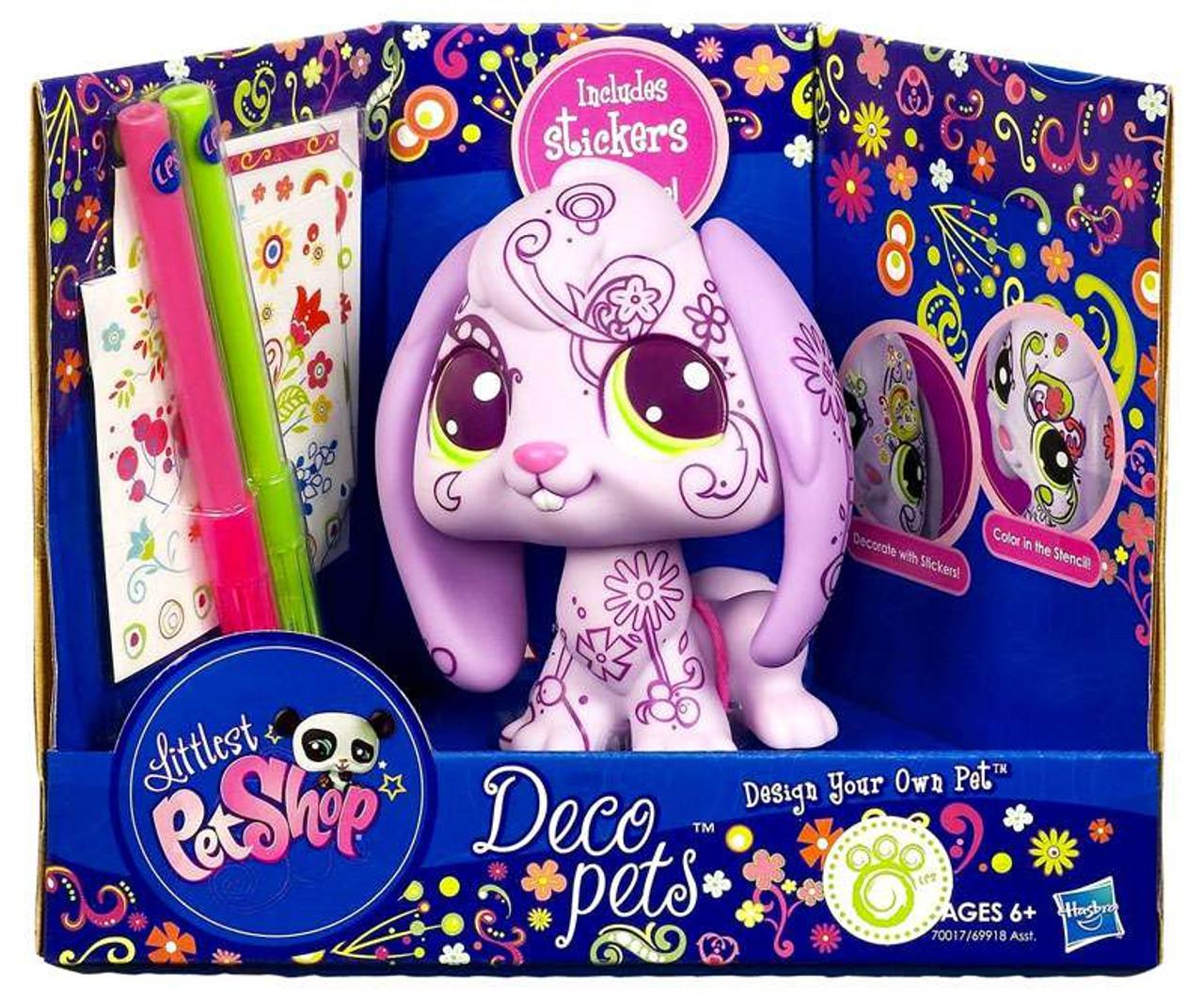 Littlest Pet Shop Deco Pets Bunny Figure [Pink]