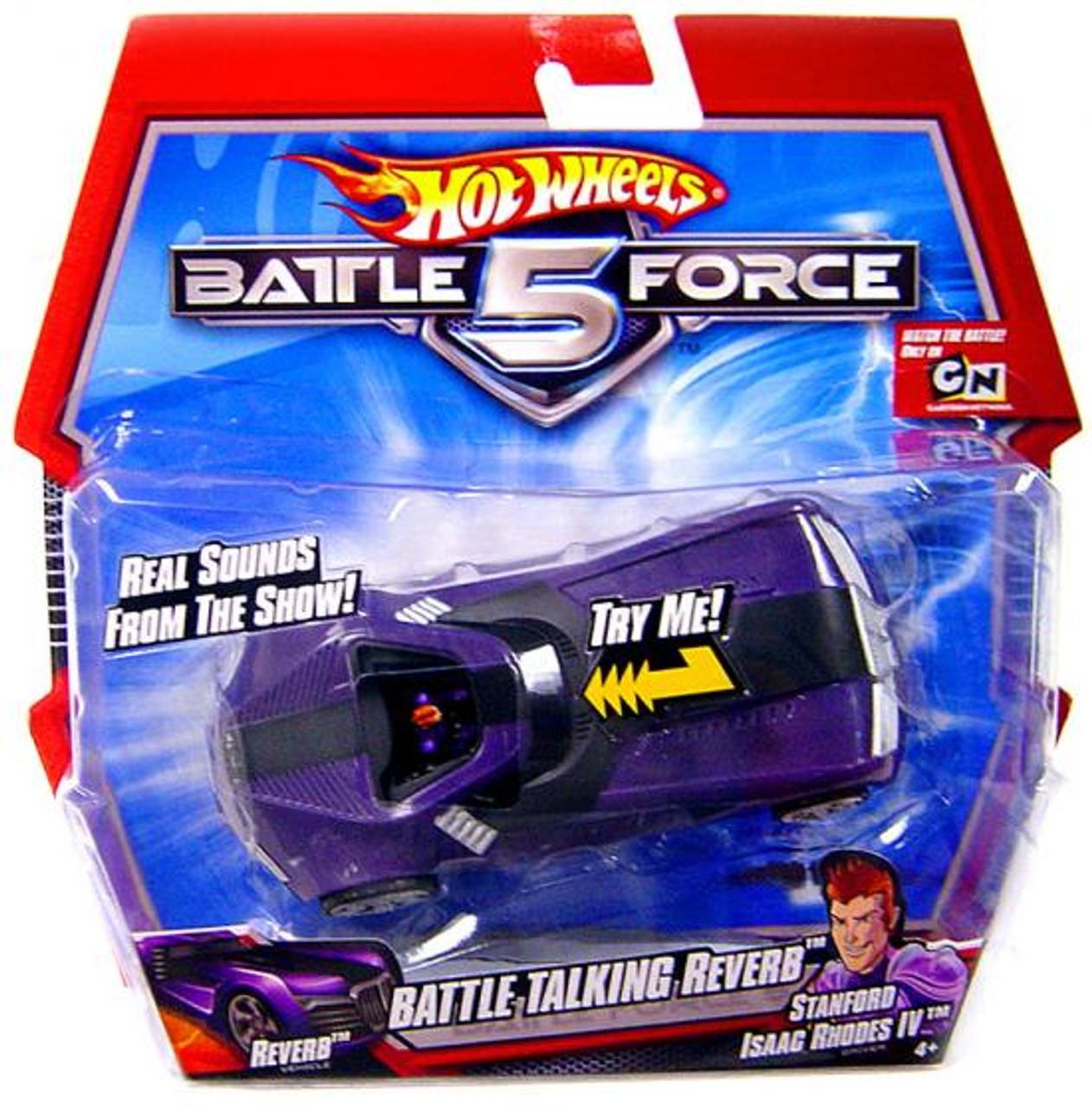 Hot Wheels Battle Force 5 Reverb Diecast Vehicle [Battle Talking]