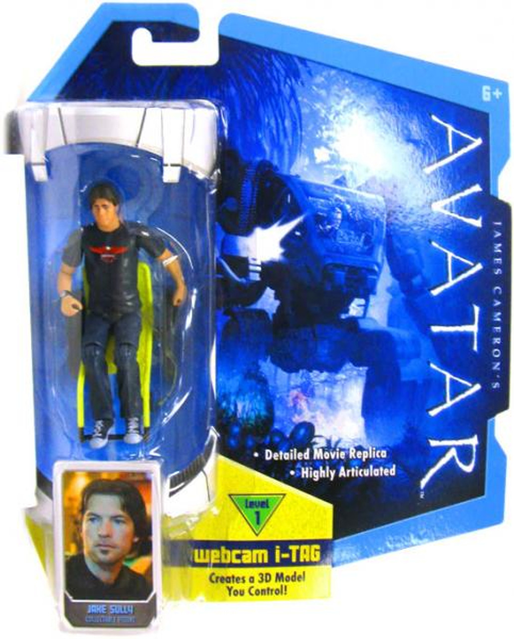James Cameron's Avatar Jake Sully Action Figure [Long Hair]