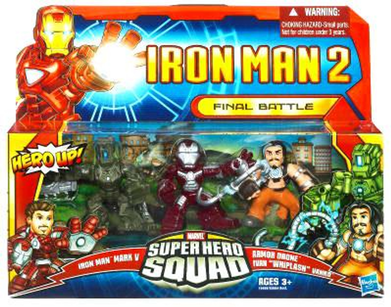 Iron Man 2 Superhero Squad Final Battle Action Figure 3-Pack