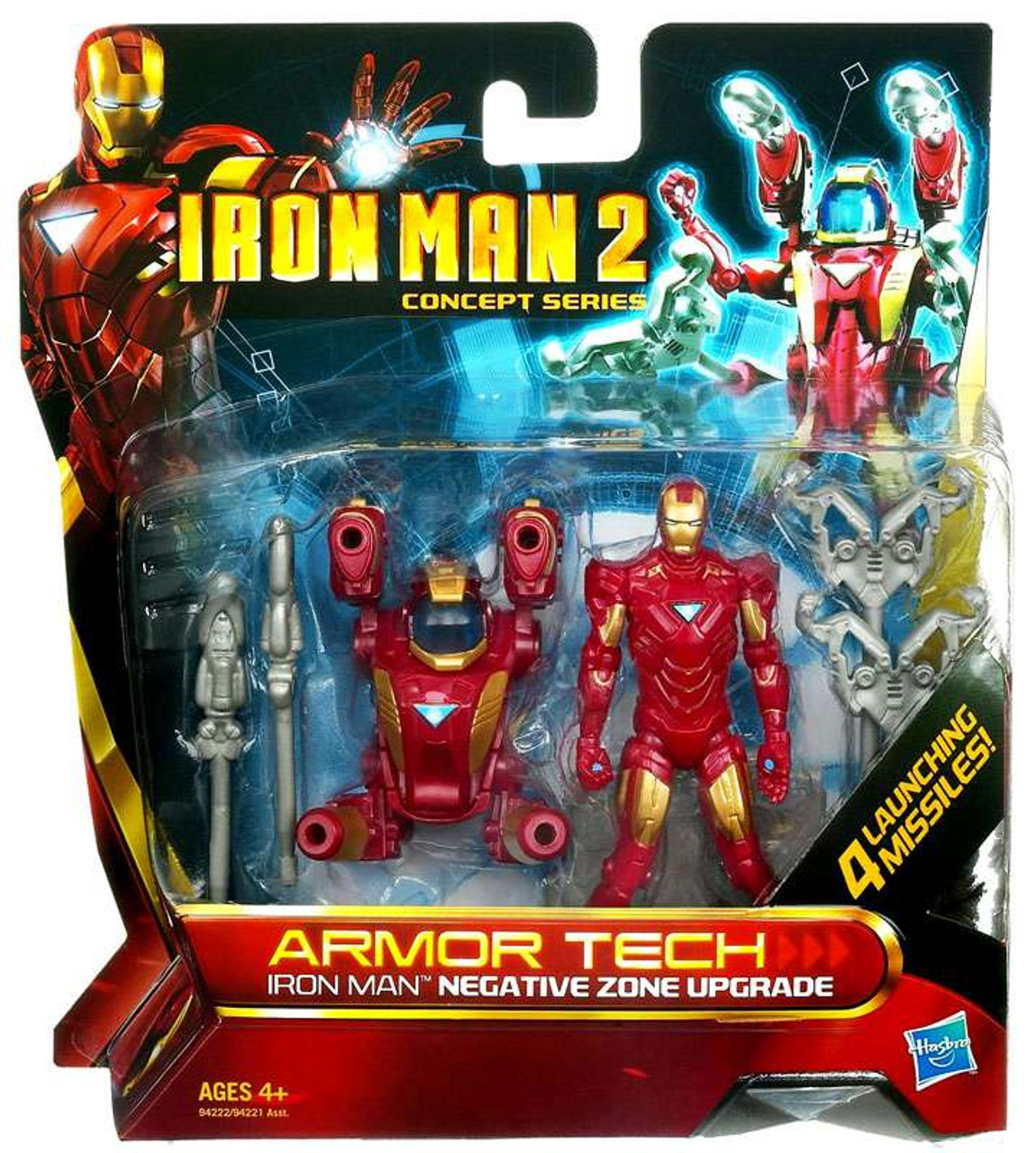 Iron Man 2 Concept Series Armor Tech Iron Man Negative Zone Upgrade Action Figure
