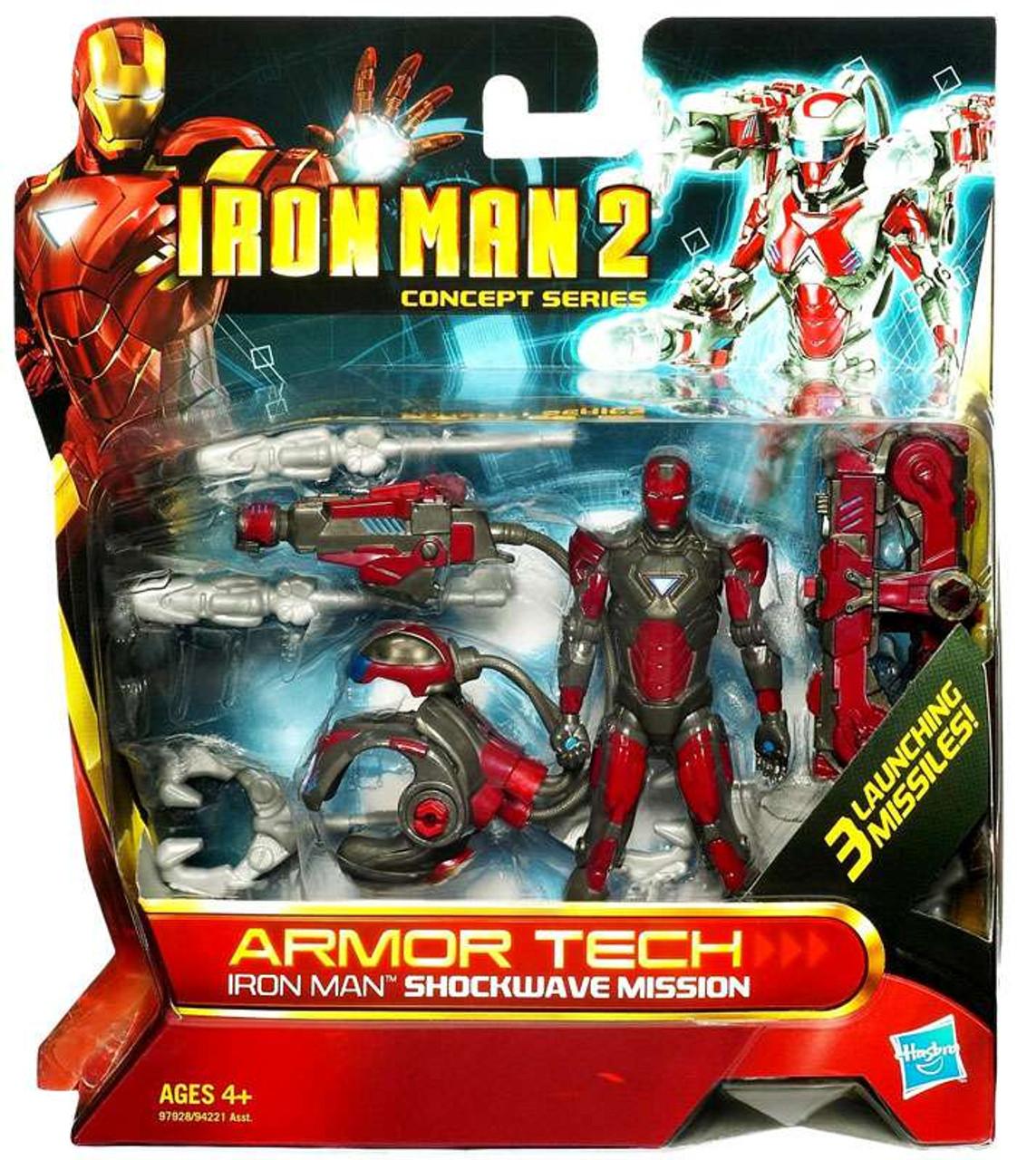 Iron Man 2 Concept Series Armor Tech Iron Man Shockwave Mission Action Figure