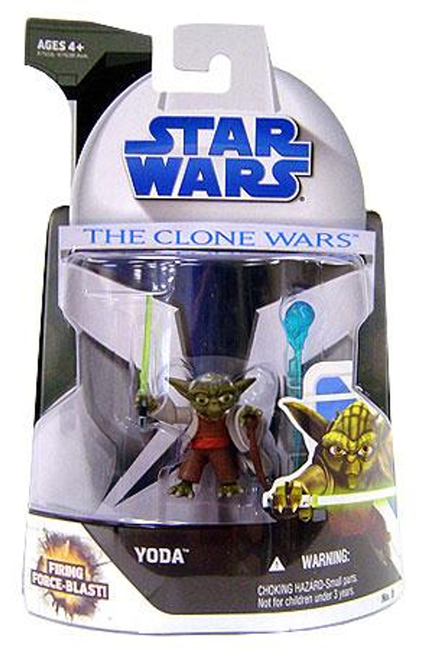 Star Wars The Clone Wars Clone Wars 2008 Yoda Action Figure #3