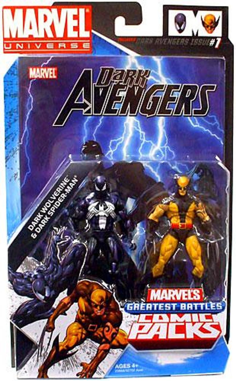 Marvel Universe Dark Wolverine & Dark Spider-Man Action Figure 2-Pack [Daken & Venom]