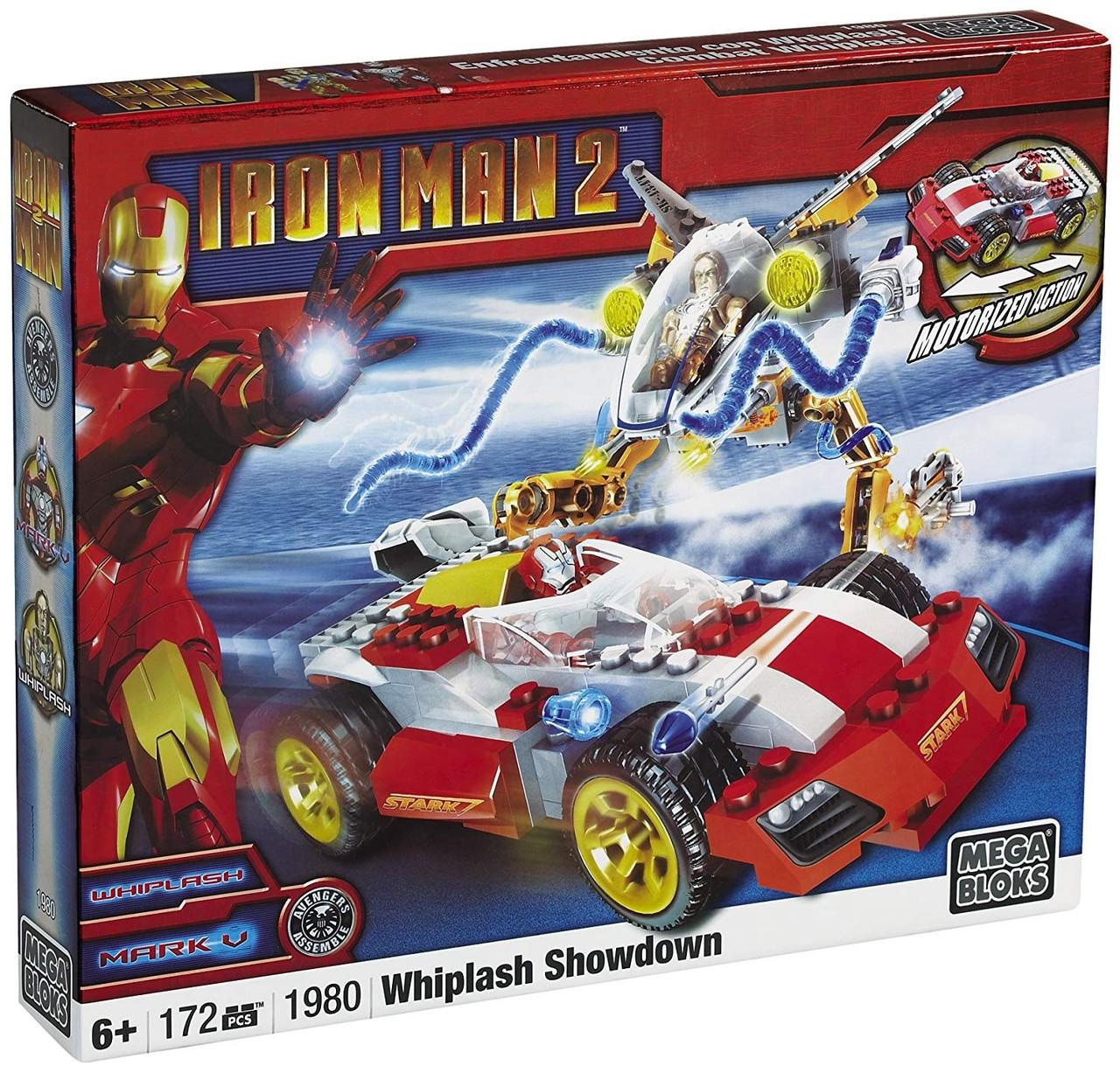 Mega Bloks Iron Man 2 Whiplash Showdown Set #1980