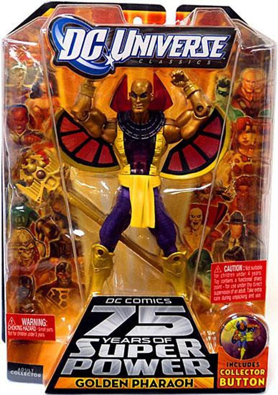 DC Universe 75 Years of Super Power Classics Validus Series Golden Pharaoh Action Figure