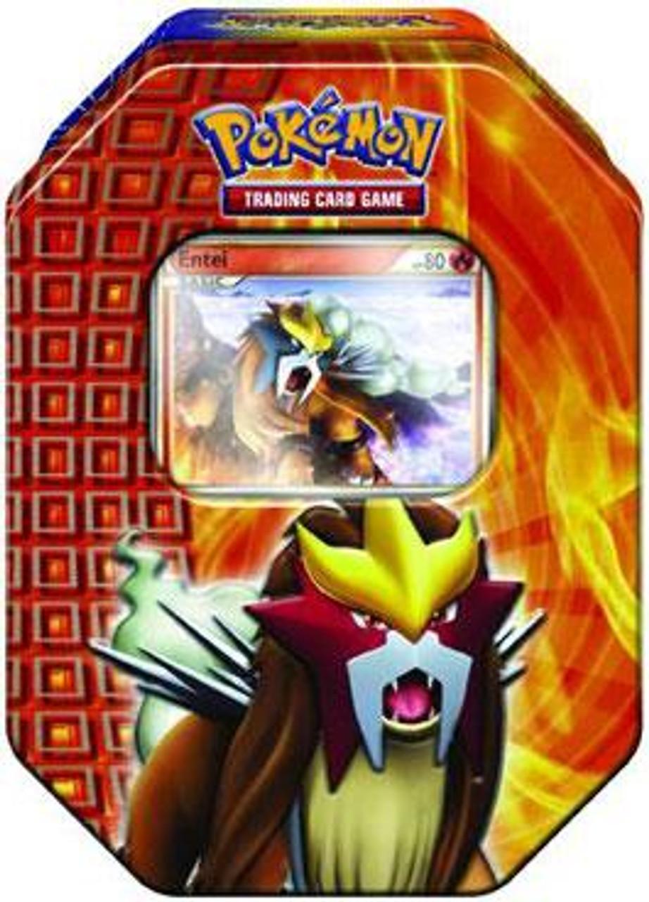 Pokemon HeartGold & Soulsilver Fall 2010 Entei Collector Tin