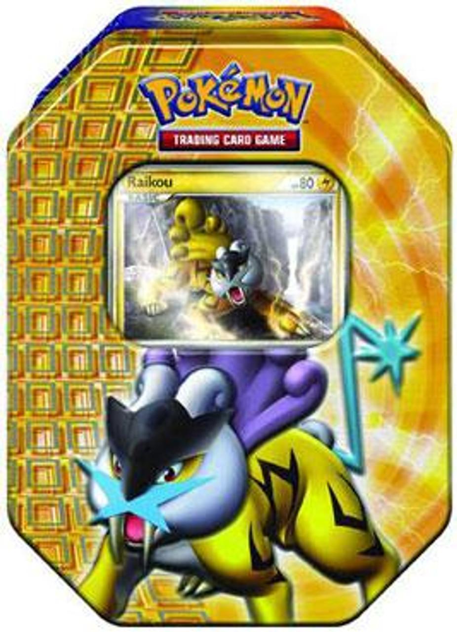 Pokemon HeartGold & Soulsilver Fall 2010 Raikou Collector Tin