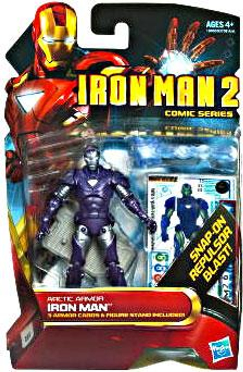 Iron Man 2 Comic Series Arctic Armor Iron Man Action Figure #33