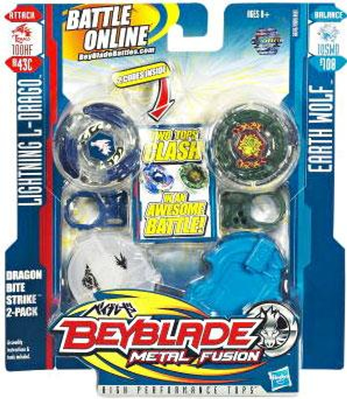 Beyblade Metal Fusion Dragon Bite Strike 2-Pack BB43C