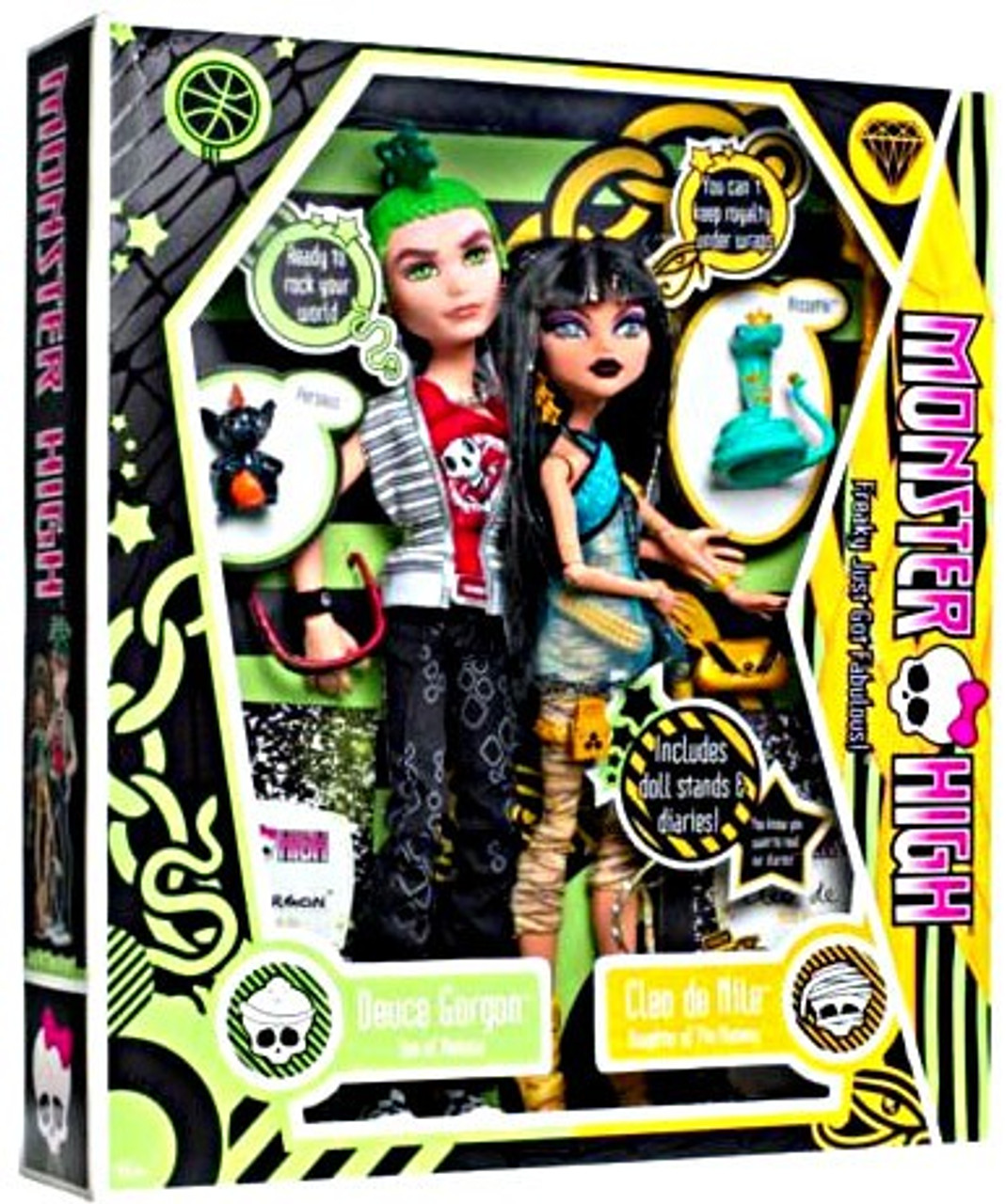 Monster High Deuce Gorgon & Cleo De Nile 10.5-Inch Doll 2-Pack