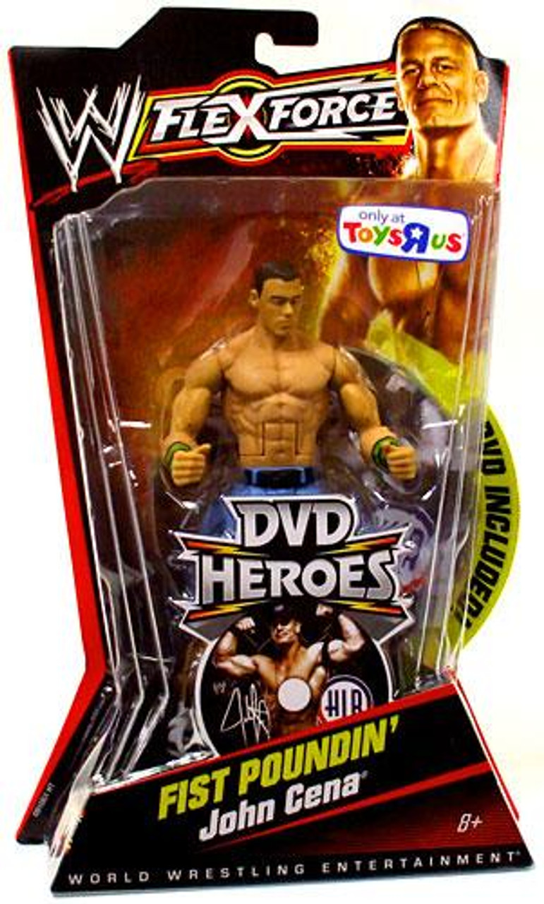 WWE Wrestling FlexForce DVD Heroes Series 1 John Cena Exclusive Action Figure