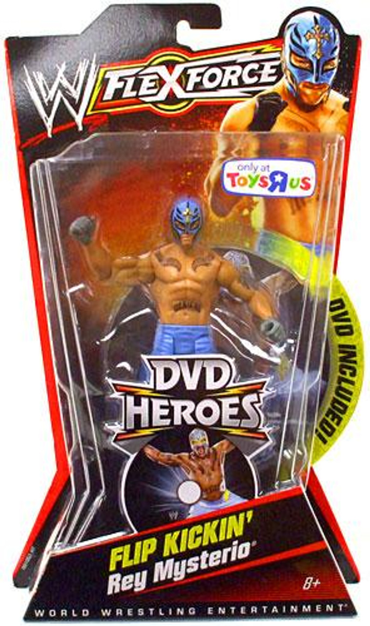 WWE Wrestling FlexForce DVD Heroes Series 1 Rey Mysterio Exclusive Action Figure