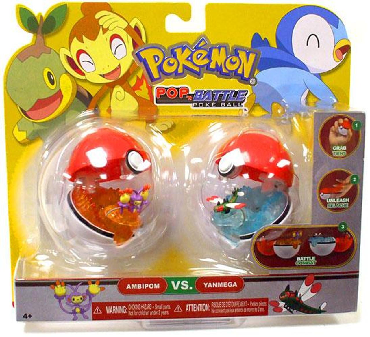 Pokemon Pop n Battle Ambipom & Yanmega Pokeball 2-Pack