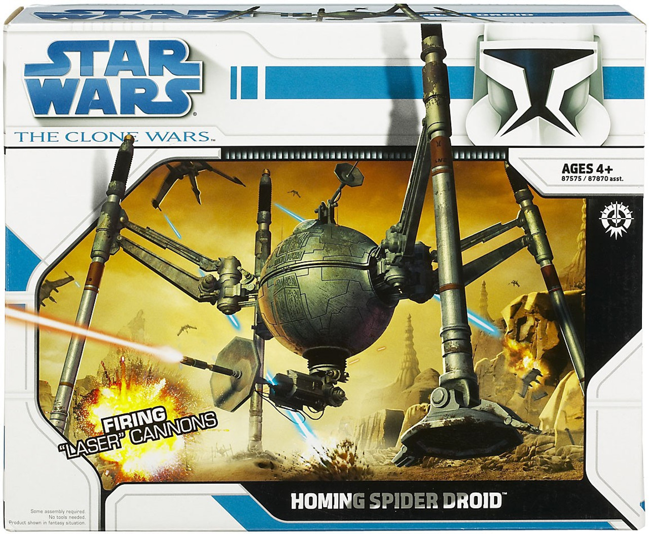 Star Wars The Clone Wars Vehicles 2008 Homing Spider Droid Action Figure Vehicle