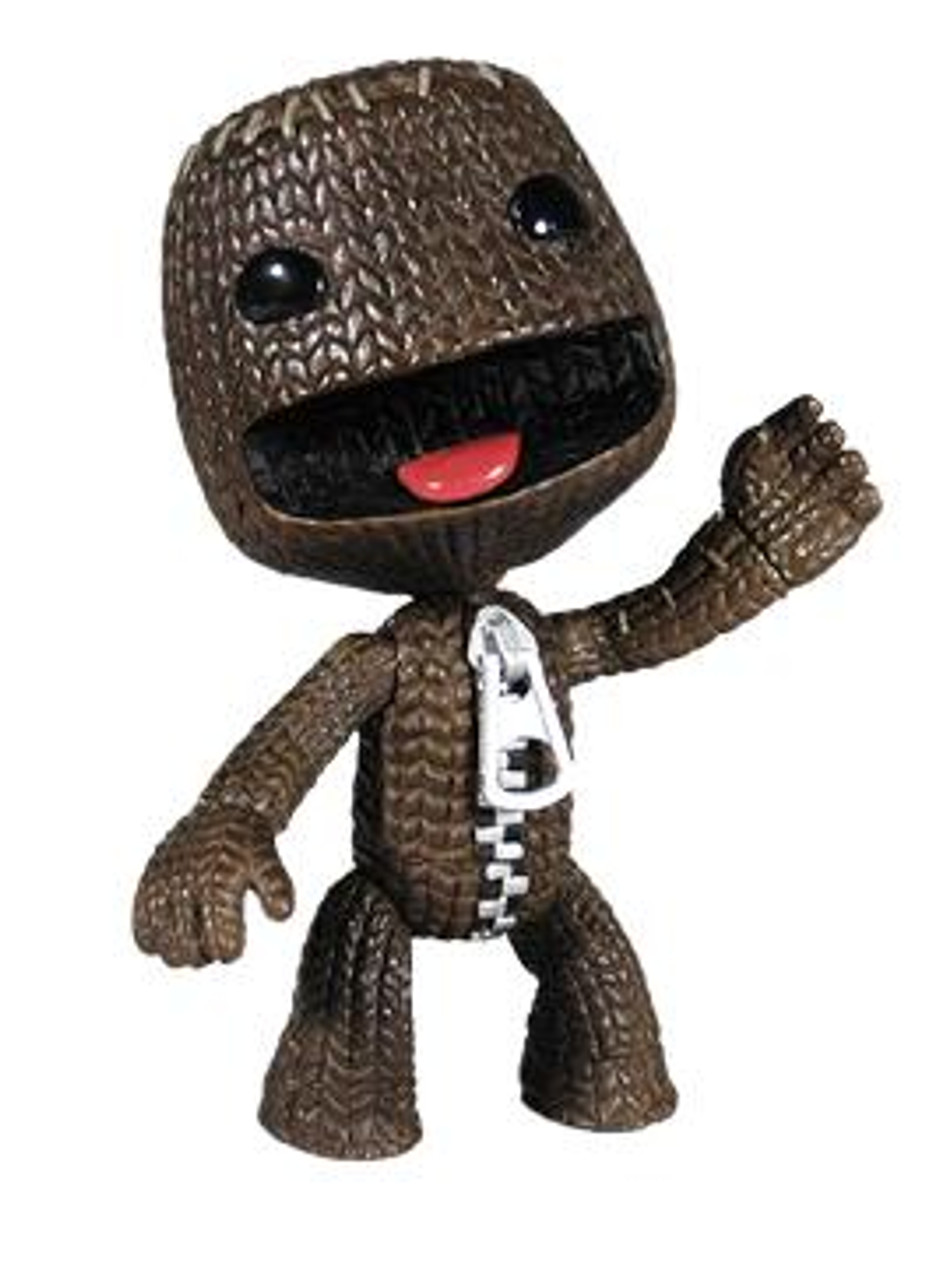 Little Big Planet Series 1 Sackboy Action Figure [Open Mouth]