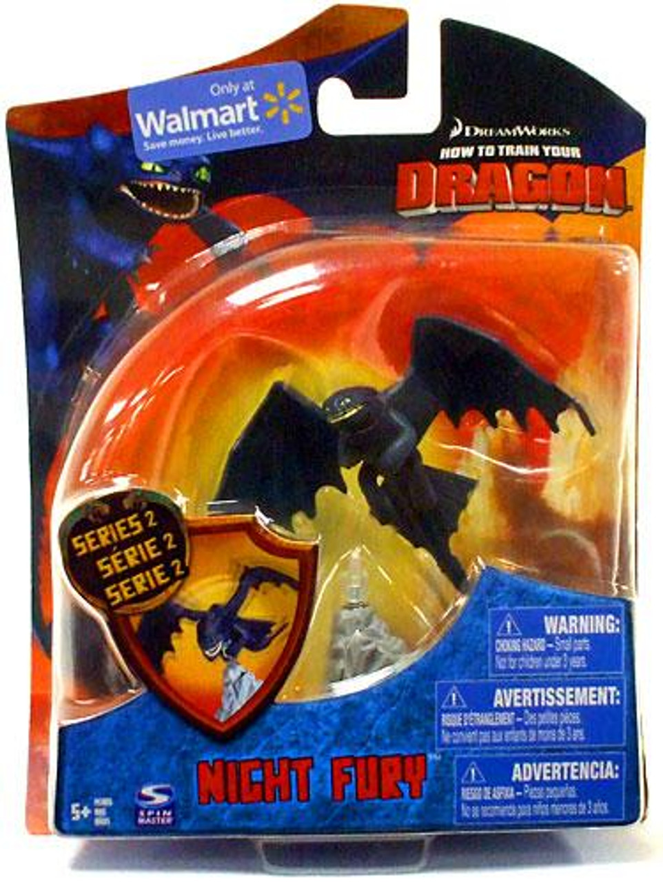 How to Train Your Dragon Series 2 Night Fury Action Figure [Toothless]