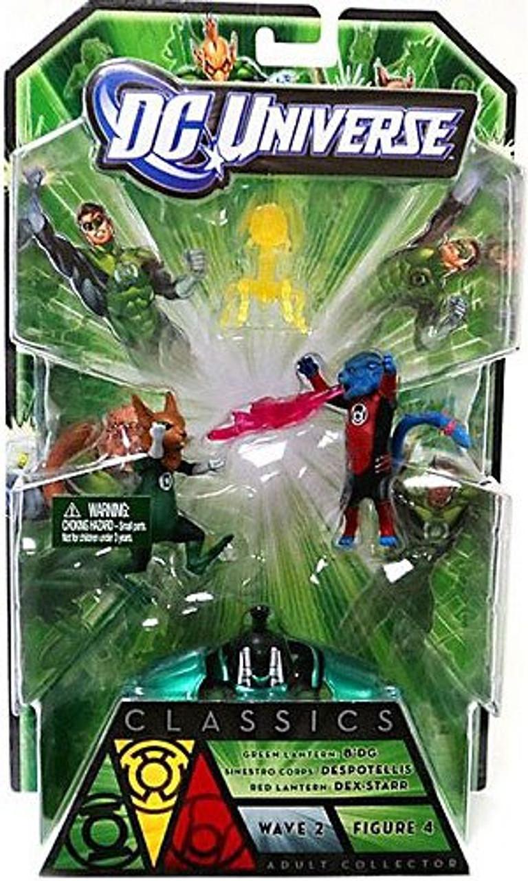 DC Universe Green Lantern Classics Stel Series B'dg, Dex-Starr & Despotellis Action Figures
