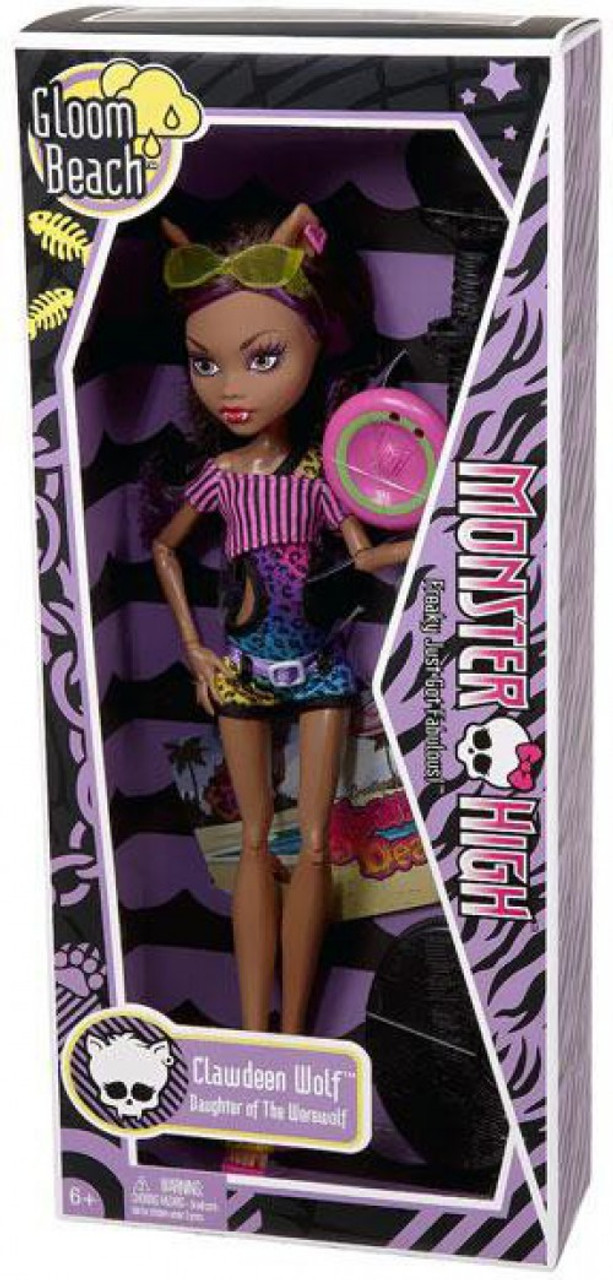Monster High Gloom Beach Clawdeen Wolf 10.5-Inch Doll