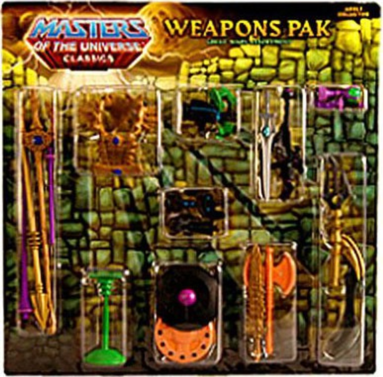 Masters of the Universe Classics Club Eternia Great Wars Exclusive Action Figure Weapons Pak