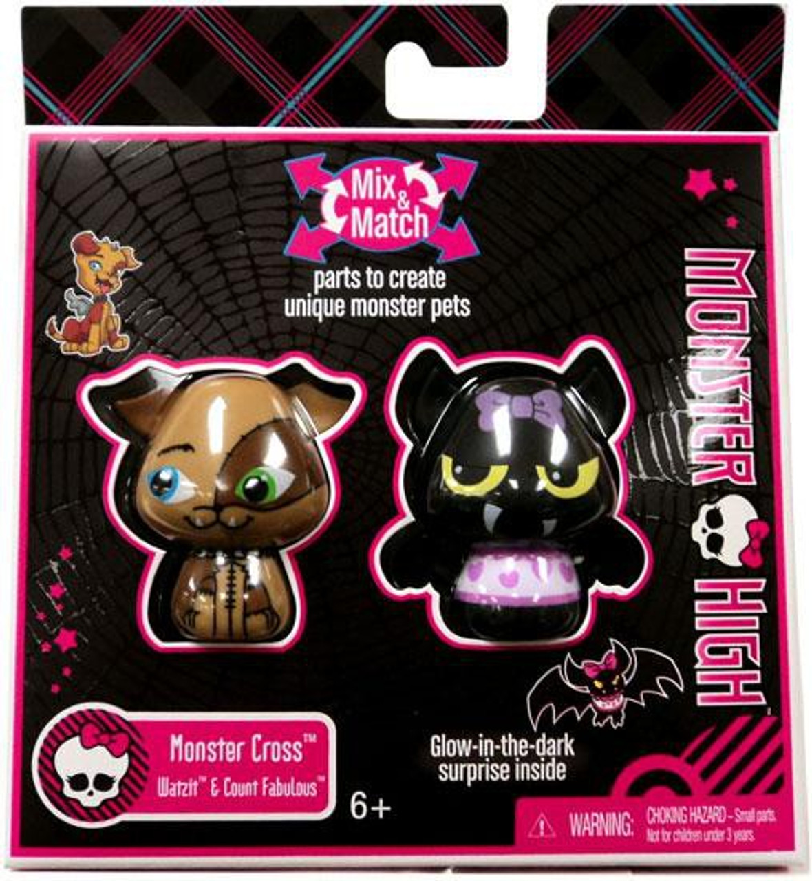 Monster High Monster Cross Watzit & Count Fabulous Figure 2-Pack