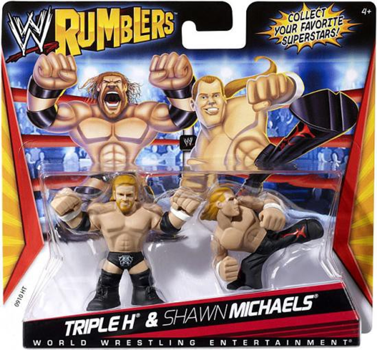 WWE Wrestling Rumblers Series 1 Triple H & Shawn Michaels Mini Figure 2-Pack