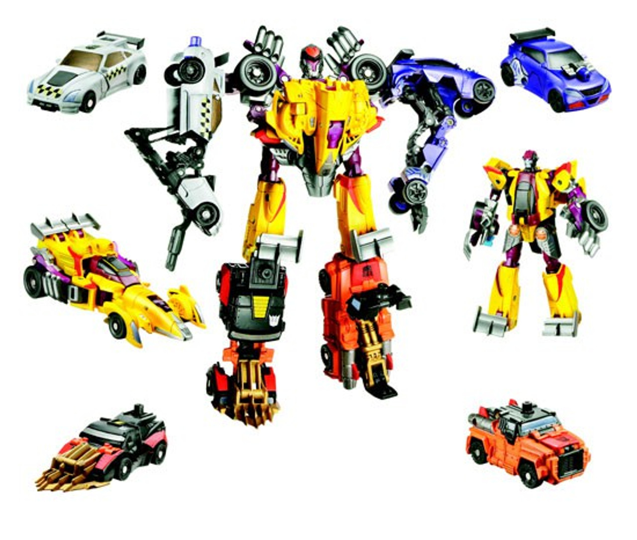 Transformers Power Core Combiners Stunticons Action Figure 5-Pack