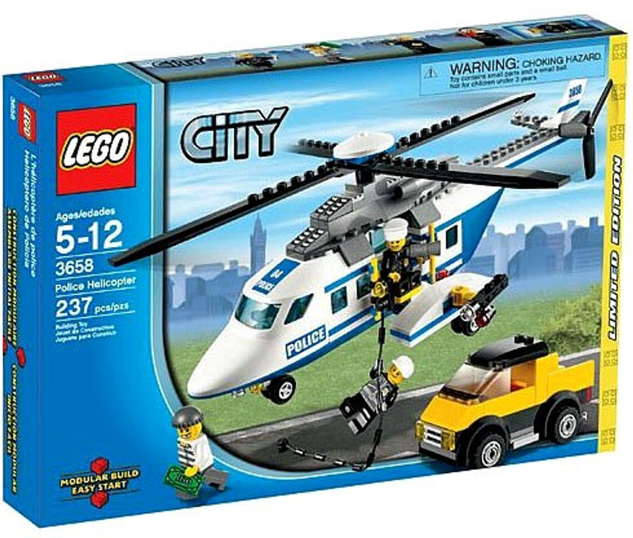 LEGO City Police Helicopter Exclusive Set #3658