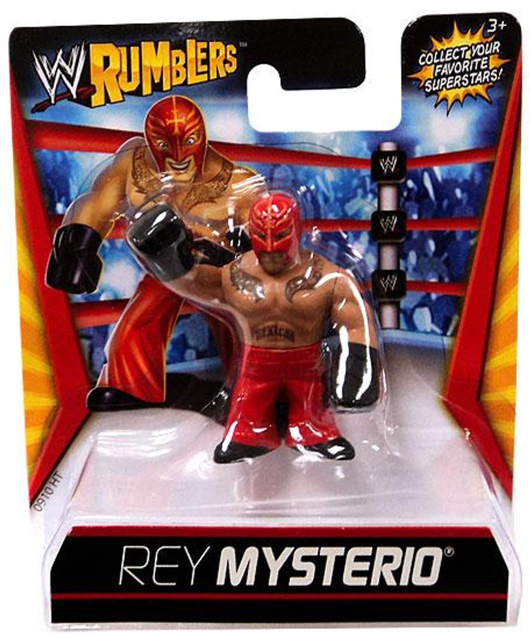 WWE Wrestling Rumblers Series 1 Rey Mysterio Mini Figure [Red Outfit]