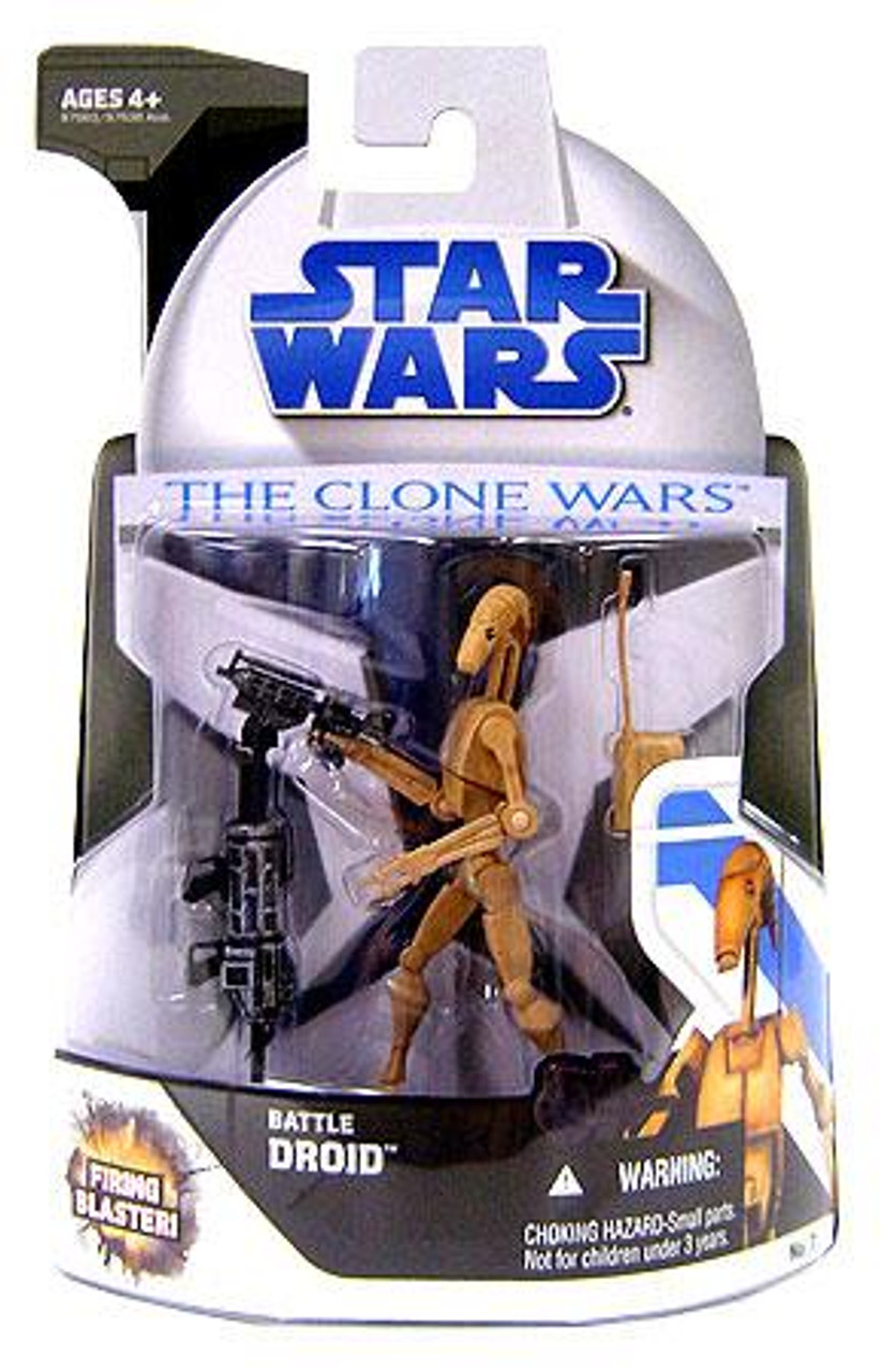 Star Wars The Clone Wars Clone Wars 2008 Battle Droid Action Figure #7