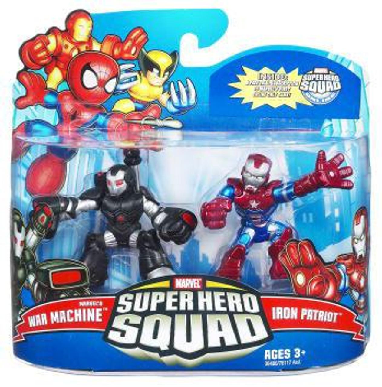 Super Hero Squad Series 21 Marvel's War Machine & Iron Patriot Action Figure 2-Pack