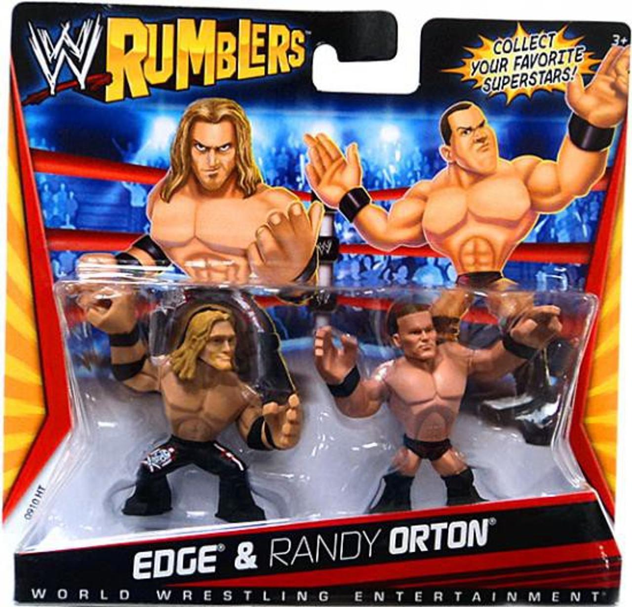 WWE Wrestling Rumblers Series 1 Edge & Randy Orton Mini Figure 2-Pack