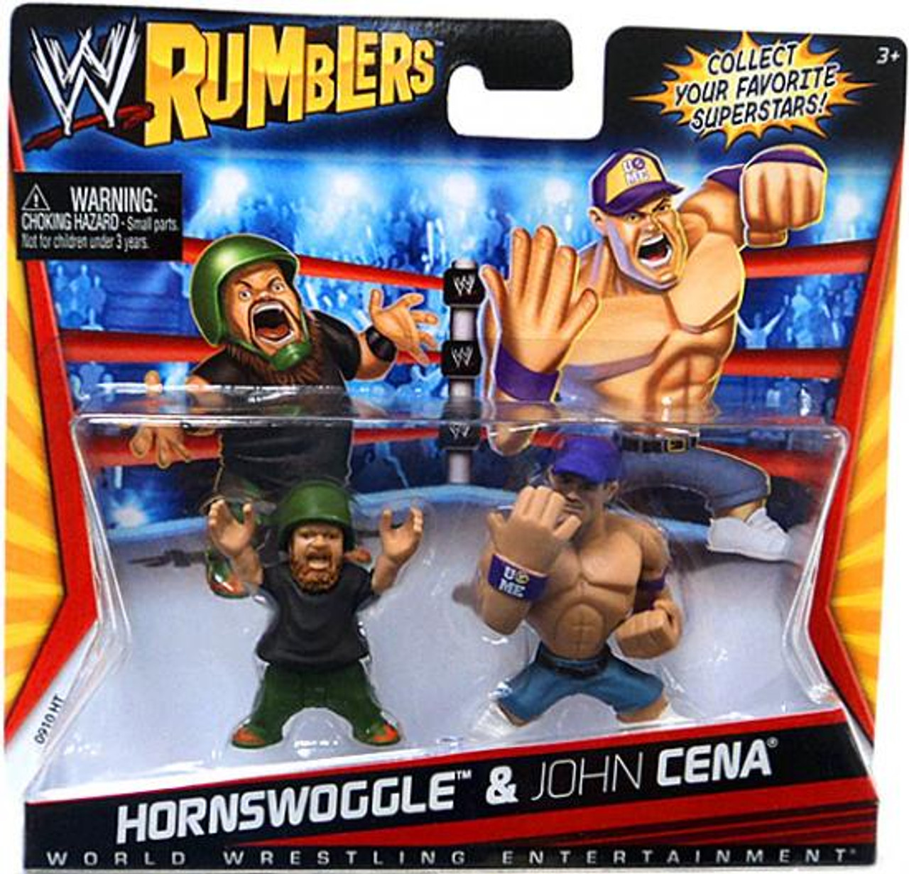 WWE Wrestling Rumblers Series 1 Hornswoggle & John Cena Mini Figure 2-Pack