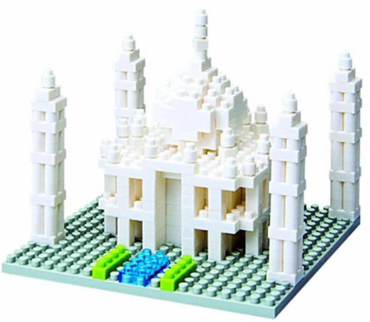 Nanoblock Micro-Sized Building Block Taj Mahal Figure Set