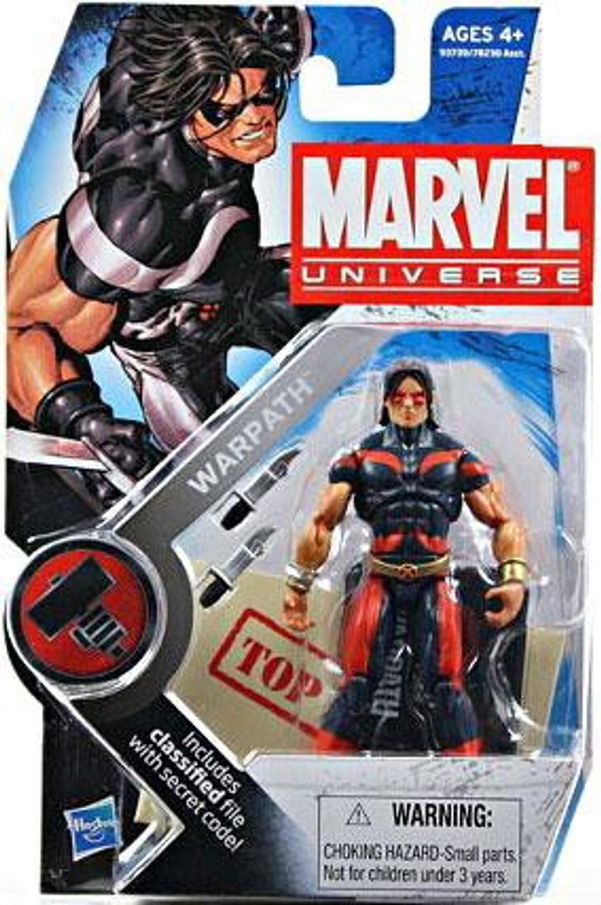 Marvel Universe Series 6 Warpath Action Figure #3 [Blue & Red]