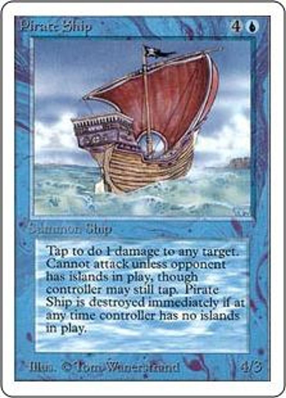 MtG Unlimited Rare Pirate Ship