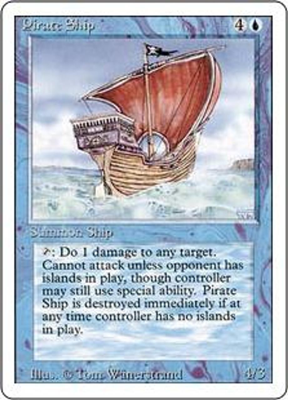 MtG Revised Rare Pirate Ship